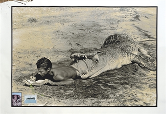 Peter Beard in Crocodile
