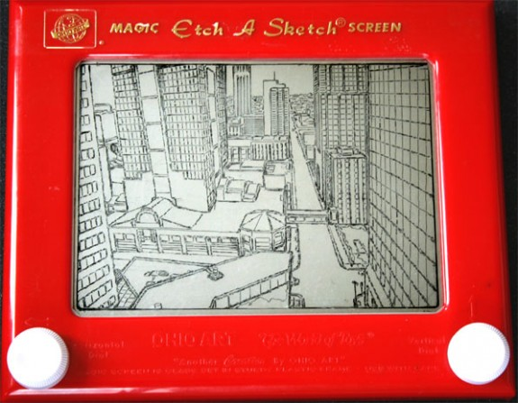 Etch-A-Sketch KC Cityscape
