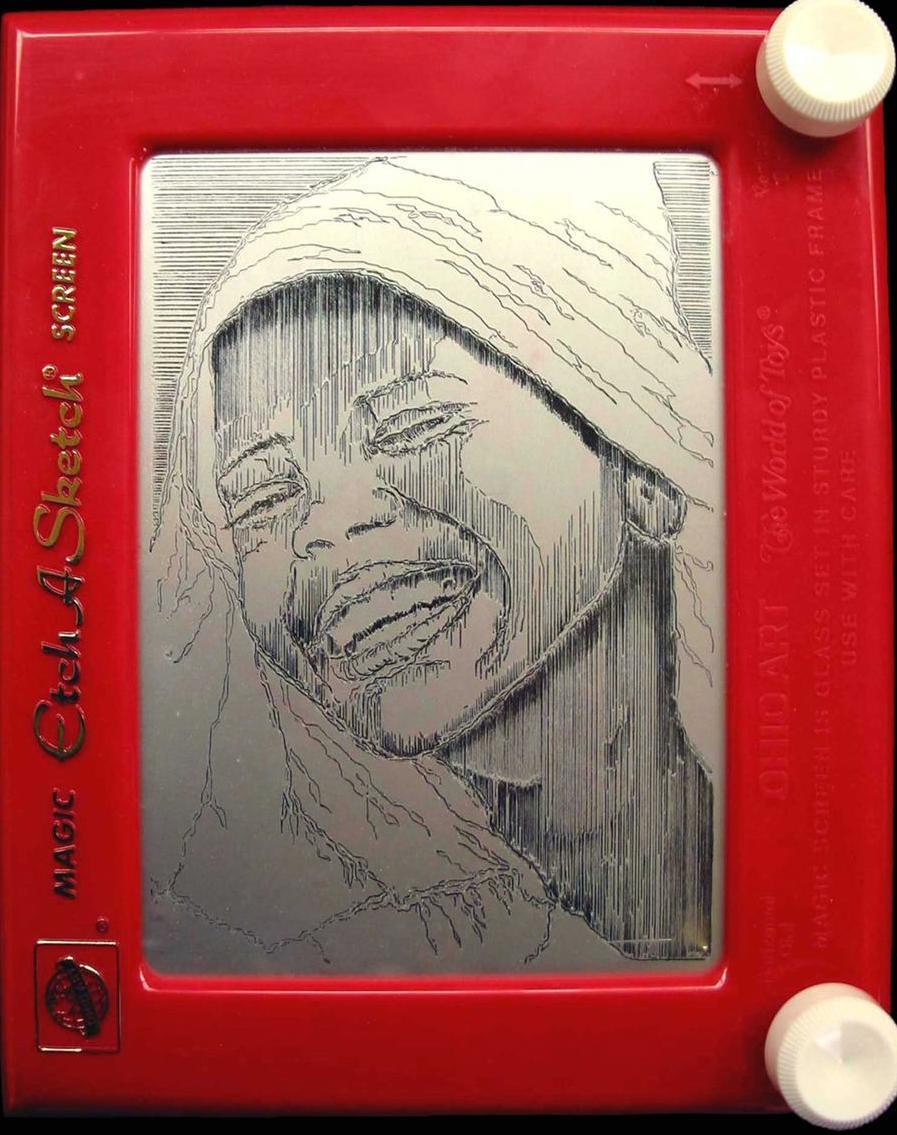 Etch-A-Sketch by Pauline Graziano Girl Laughing