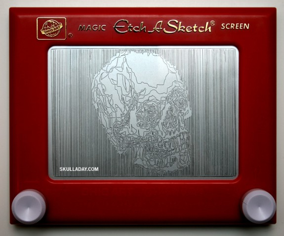 Etch-A-Sketch by Skulladay