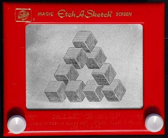 Etch-a-sketch artist Ron Morse, Portland, USA