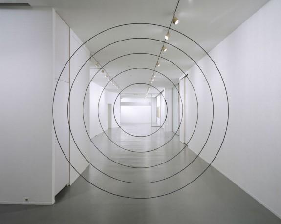 Felice Varini Cinq Cercles Concentriques Noir 1993