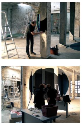 Georges Rousse Cantabria (in progress)