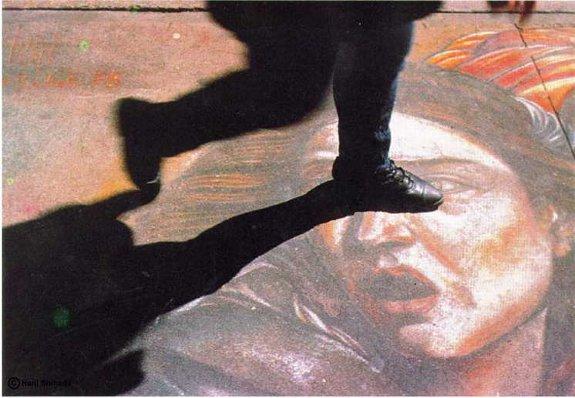 Hani Shihada mural meets real life