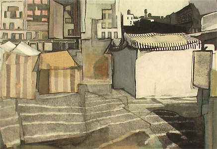 Kyle Gallup, Roof tops 14th Street, 2008