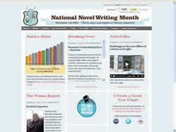 National Novel Writing Month (NANO) website