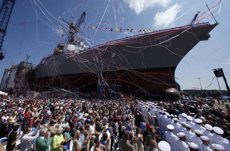 USS Jason Dunham ship launch