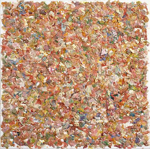 Coulda, should, woulda, 2009, Chewing gum on canvas by Dan Colen