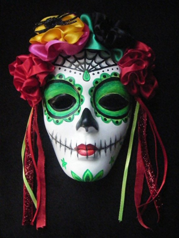 El Dia de los Muertos day of the dead mask by lipstattoo