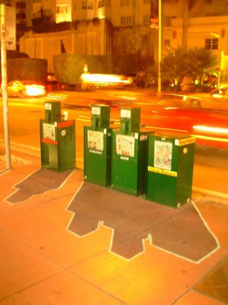 Ellis Gallagher, Newspaper Boxes, South Beath, Miami, FL 2007