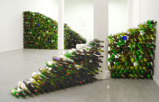 Jean Shin Glasscape 2005 (wine bottles)