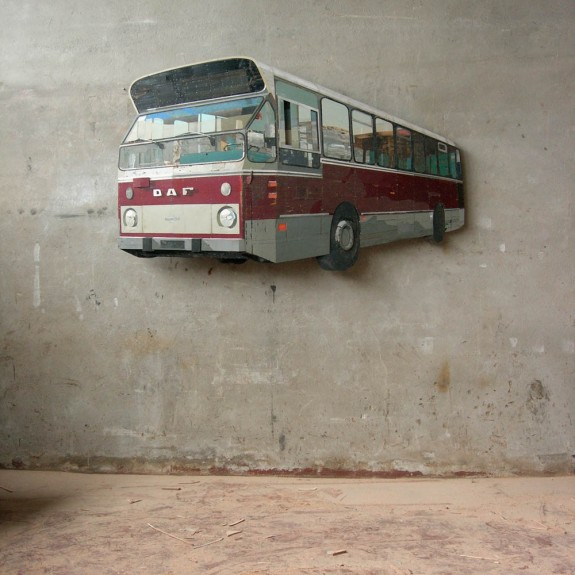 Ron van der Ende Stadsbus 2007 (found wood)
