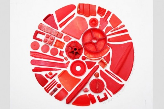 Steven McPherson Chromatic Sampler (Red Detail) 2009 (plastic ocean debris)