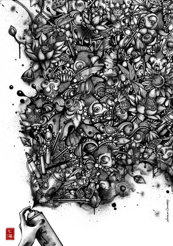 Ink Pond by Nanami Cowdroy