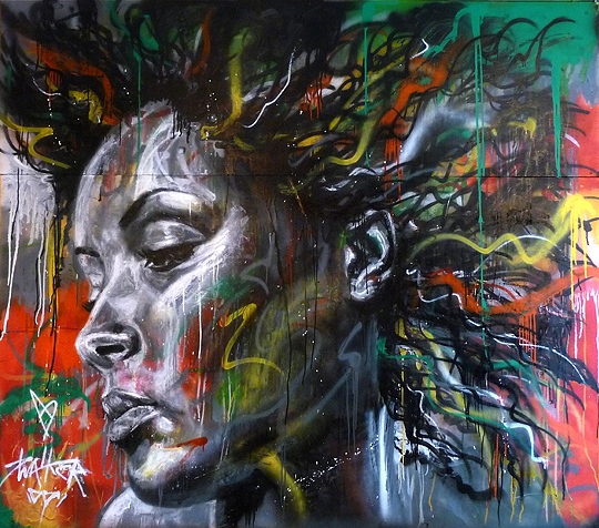 Spary Paint And Graffiti Portraits By David Walker