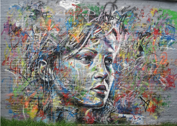 spary paint and graffiti portraits by david walker. Black Bedroom Furniture Sets. Home Design Ideas