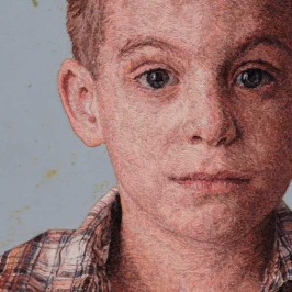 Refined embroidered portraits by Cayce Zavaglia