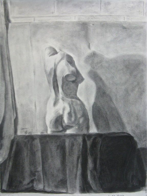 Drawing by Katie Zhao Charcoal on paper (3)