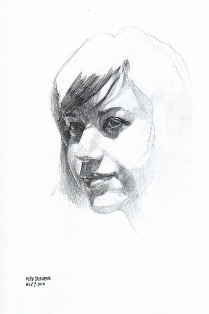 Nanodrawmo 14 by Mike Creighton, graphite on paper
