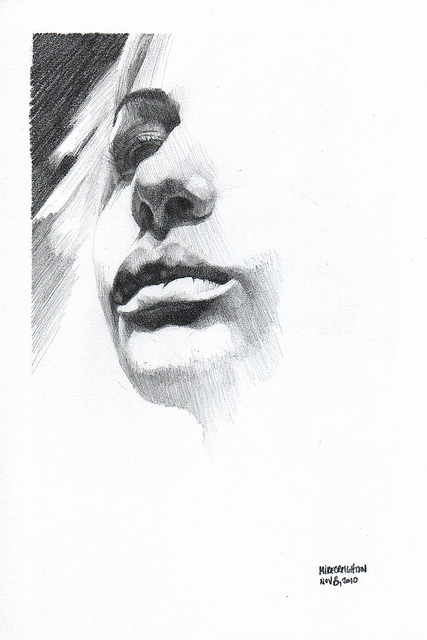 Nanodrawmo 15 by Mike Creighton, graphite on paper