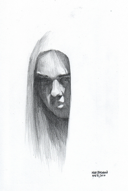 Nanodrawmo 23 by Mike Creighton, graphite on paper