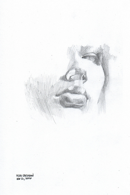 Nanodrawmo 27 by Mike Creighton, graphite on paper