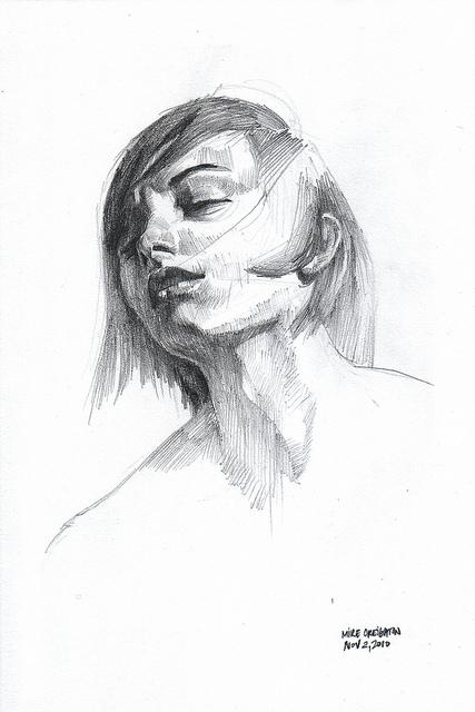 Nanodrawmo 5 by Mike Creighton, graphite on paper