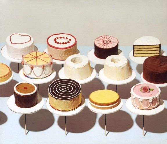 Wayne Thiebaud Cakes 1963 oil on canvas
