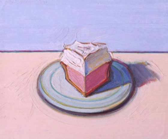 Wayne Thiebaud Pie Slice 1991 Oil on board