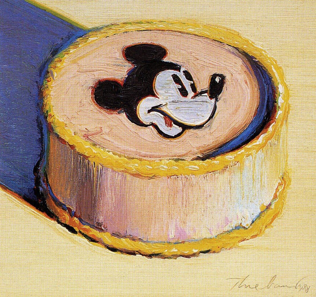 Cake Artist Painter : Wayne Thiebaud Yellow Mickey Mouse Cake 1998