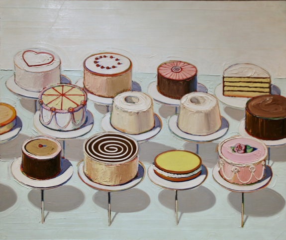 Wayne Thiebaud Cakes, 1963, oil on canvas