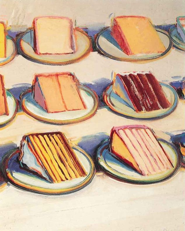 wayne thiebaud paintings. Wayne Thiebaud oil on canvas