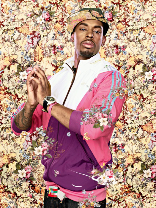 After Jean August Dominique Ingres The Virgin with the Host, Black Light series Photograph 2009 by Kehinde Wiley