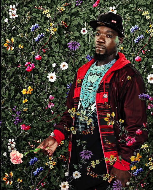 Algorna Crawford, After Sir Joshua Reynolds Miss Susanna Gale, Black Light series, Photograph 2009 by Kehinde Wiley