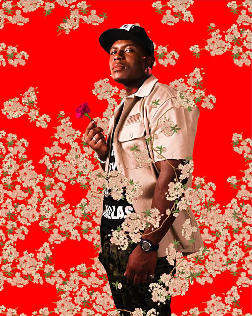 Alston Sajery, After Hans Holbein the Youngers Portrait of Simon George, Black Light series, Photograph 2009 by Kehinde Wiley