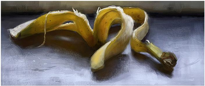 Banana, Digital Painting 2010 by Fredrik Rattzen