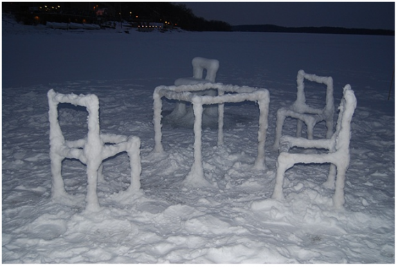 Ice & Snow Furniture Raised From Lake Mendota(3) by Hongtao Zhou