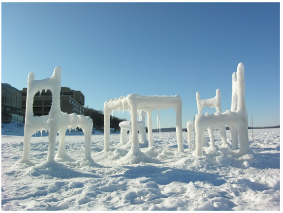 Ice & Snow Furniture Raised From Lake Mendota(4) by Hongtao Zhou