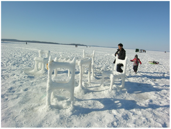 Ice & Snow Furniture Raised From Lake Mendota(5) by Hongtao Zhou