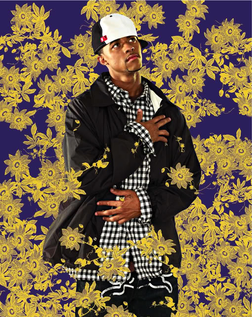 Jerry Valdes, After Titians (Tiziano Vecellio) Repentant Mary Magdalene, Black Light series, Photograph 2009 by Kehinde Wiley