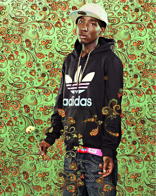 Jonathan Swinton, After John Singer Sargents The Countess of Rocksavage, Black Light series, Photograph 2009 by Kehinde Wiley