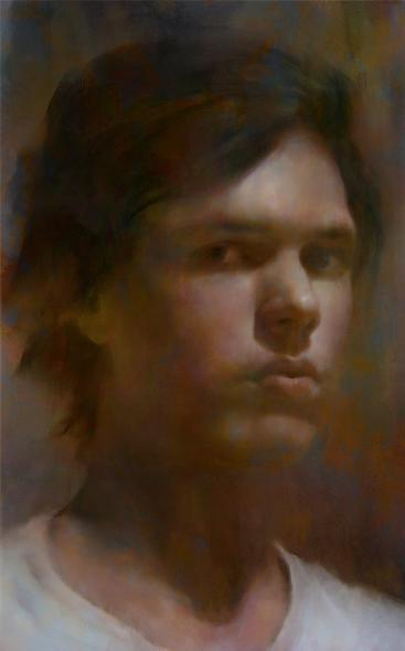 Self Portrait, Digital Paintng 2010 by Fredrik Rattzen