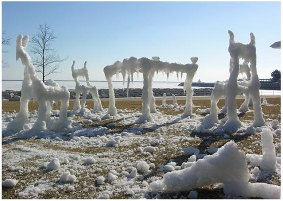 Snow Furniture Dancing at Milwaukee Art Museum by Hongtao Zhou