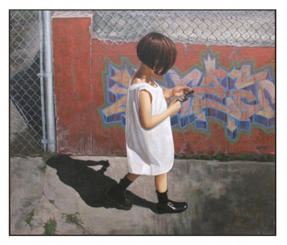 Graffiti Girl II, 42 x 52, oil on canvas by Kevin Peterson