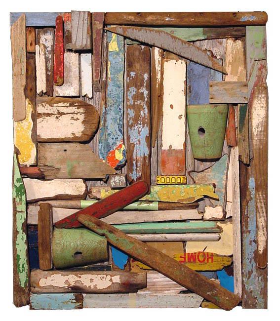 Shipwreck, driftwood by John Dahlsen