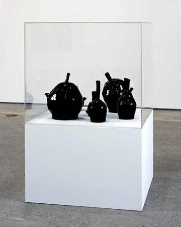 Black Bongs, glazed ceramic sculpture 2008 by David Shrigley