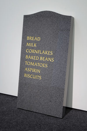 Gravestone sculpture 2008 by David Shrigley