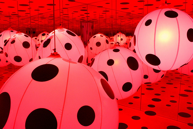 Parc Villette Paris by Yayoi Kusama via austinevan on flickr