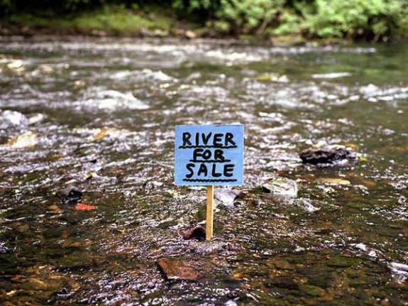 River for Sale photograph 1999 by David Shrigley