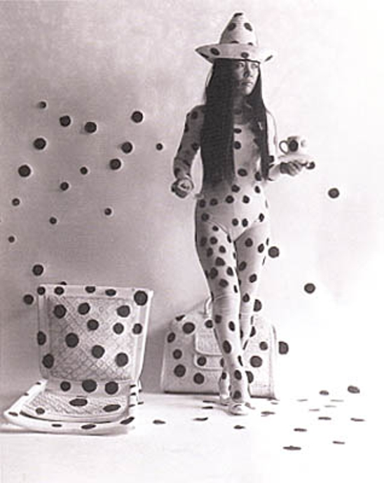 Self-Obliteration by Dots (detail) 1968 by Yayoi Kusama